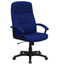 Performance Series Executive Fabric Chair, Navy Blue-0