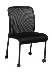 Offices to Go 11761B Armless Guest Chair Conference Chair With Casters
