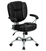 Aristocraft Series MP Platinum Manager Black Desk Chair-0