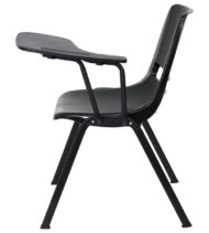 Black Ergonomic Shell Chair with Left Handed Flip-Up Tablet Arm -17141