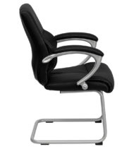 Black Leather Executive Side Chair -16447