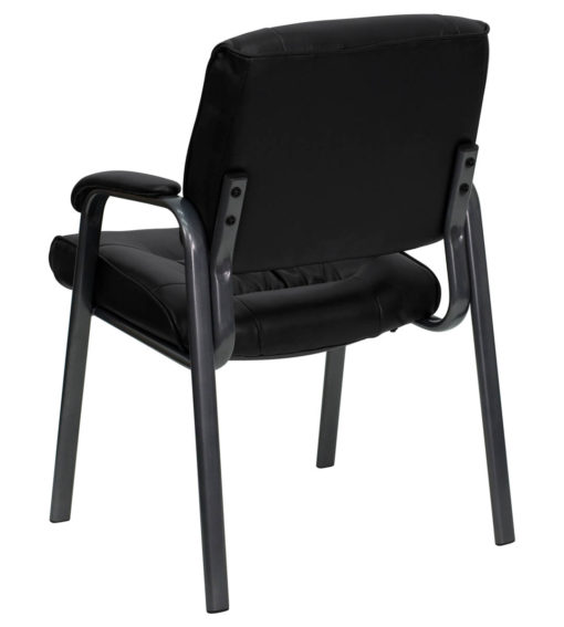 Excellent Black Leather Executive Side Chair With Titanium Frame Finish Pdpeps Interior Chair Design Pdpepsorg