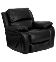Black Leather Rocker Recliner -0