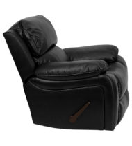 Black Leather Rocker Recliner -16982