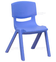 Blue Plastic Stackable School Chair with 12'' Seat Height -0