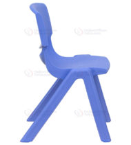 Blue Plastic Stackable School Chair with 12'' Seat Height -18362