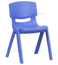 Blue Plastic Stackable School Chair with 13.25'' Seat Height -0