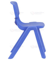 Blue Plastic Stackable School Chair with 13.25'' Seat Height -18374