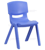 Blue Plastic Stackable School Chair with 15.5'' Seat Height -0