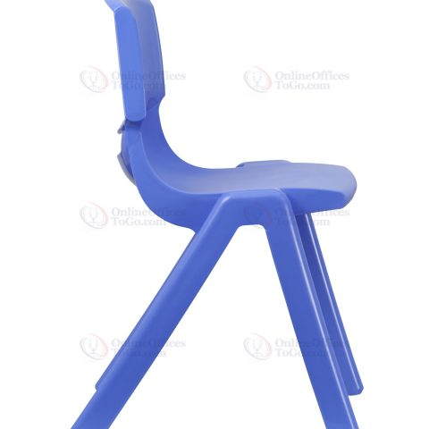 Blue Plastic Stackable School Chair with 18'' Seat Height -18398