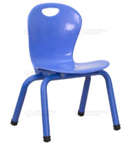 Blue Plastic Stackable School Chair with 11.75'' Seat Height -0