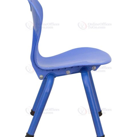Blue Plastic Stackable School Chair with 11.75'' Seat Height -18422
