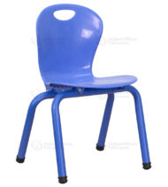 Blue Plastic Stackable School Chair with 13'' Seat Height -0