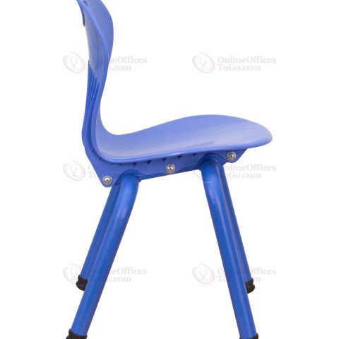 Blue Plastic Stackable School Chair with 13'' Seat Height -18434