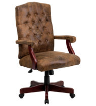 Bomber Brown Classic Executive Office Chair-0