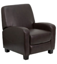 Brown Leather Push Back Recliner -0