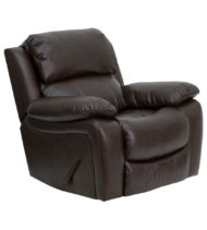 Brown Leather Rocker Recliner -0
