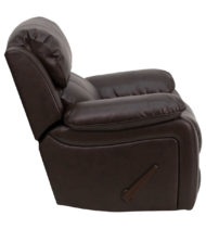 Brown Leather Rocker Recliner -16987