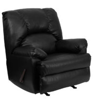 Contemporary Apache Black Leather Rocker Recliner -0