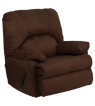 Contemporary Montana Chocolate Microfiber Suede Rocker Recliner -0