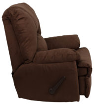 Contemporary Montana Chocolate Microfiber Suede Rocker Recliner -17535