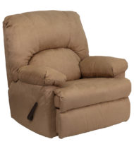 Contemporary Montana Latte Microfiber Suede Rocker Recliner -0