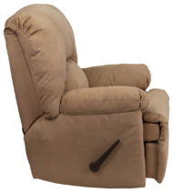 Contemporary Montana Latte Microfiber Suede Rocker Recliner -17540