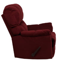 Contemporary Top Hat Berry Microfiber Rocker Recliner -14705