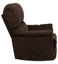 Contemporary Top Hat Chocolate Microfiber Rocker Recliner -14710