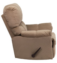 Contemporary Top Hat Coffee Microfiber Rocker Recliner -14715