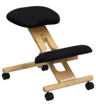 Ergoneel Black Wooden Kneeling Chair-0