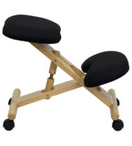 Ergoneel Black Wooden Kneeling Chair-17518