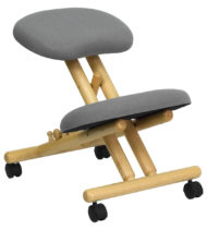 Ergoneel Gray Wooden Kneeling Chair-0
