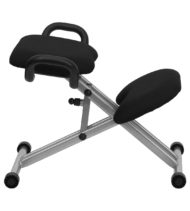 Ergoneel Kneeling Chair in Black Fabric with Handles-17302