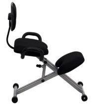 Ergoneel Kneeling Chair in Black Fabric with Back and Handles -17318