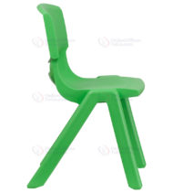 Green Plastic Stackable School Chair with 15.5'' Seat Height -18390