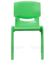 Green Plastic Stackable School Chair with 18'' Seat Height -0