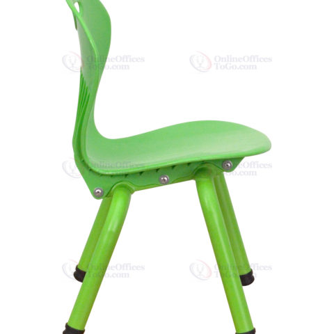 Green Plastic Stackable School Chair with 11.75'' Seat Height -18426