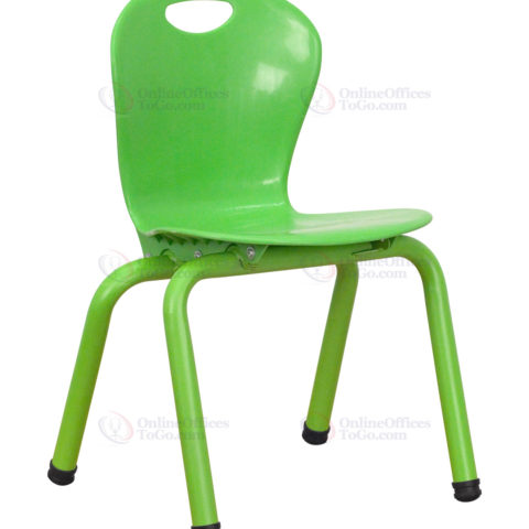Green Plastic Stackable School Chair with 13'' Seat Height -0