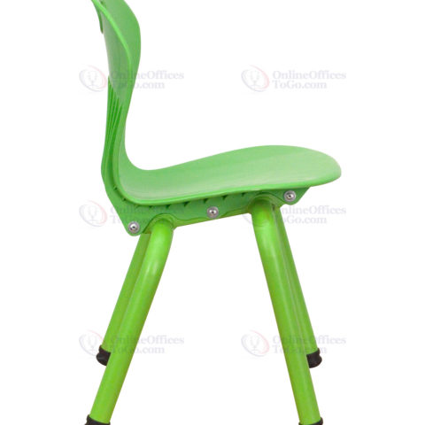 Green Plastic Stackable School Chair with 13'' Seat Height -18438
