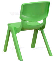 Green Plastic Stackable School Chair with 10.5'' Seat Height -14212
