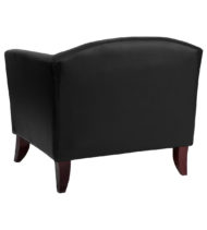 HERCULES Imperial Series Black Leather Chair -18589