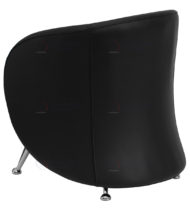 HERCULES Jet Series Black Leather Reception Chair -18500