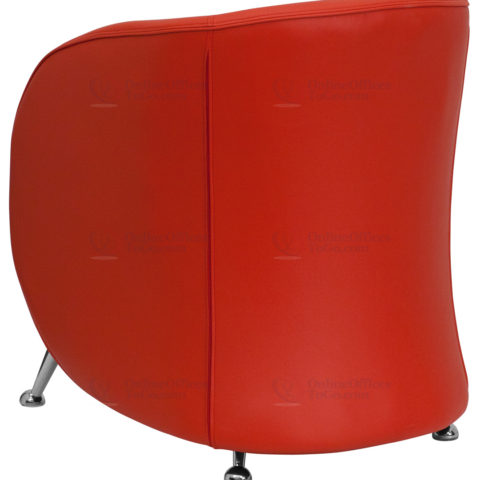 HERCULES Jet Series Red Leather Reception Chair -18503