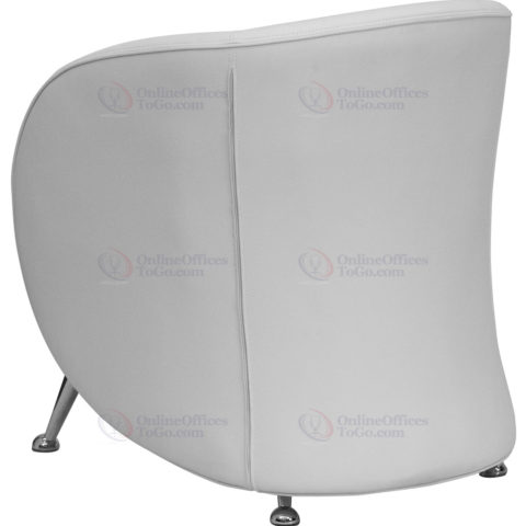 HERCULES Jet Series White Leather Reception Chair -18506