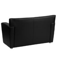 HERCULES Majesty Series Black Leather Love Seat -14649