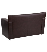 HERCULES Majesty Series Brown Leather Love Seat -14652