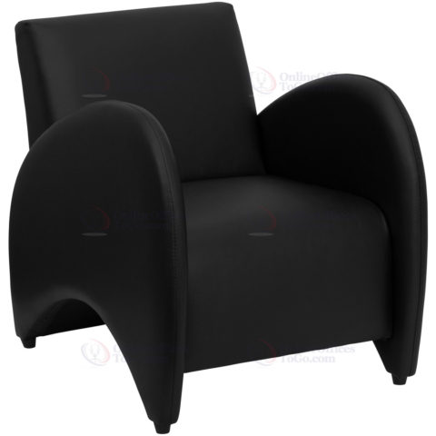 HERCULES Patrician Series Black Leather Reception Chair -0