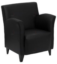 HERCULES Roman Series Black Leather Reception Chair -0