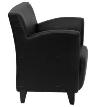 HERCULES Roman Series Black Leather Reception Chair -18560
